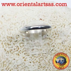 silver wedding ring 3 mm stop ring