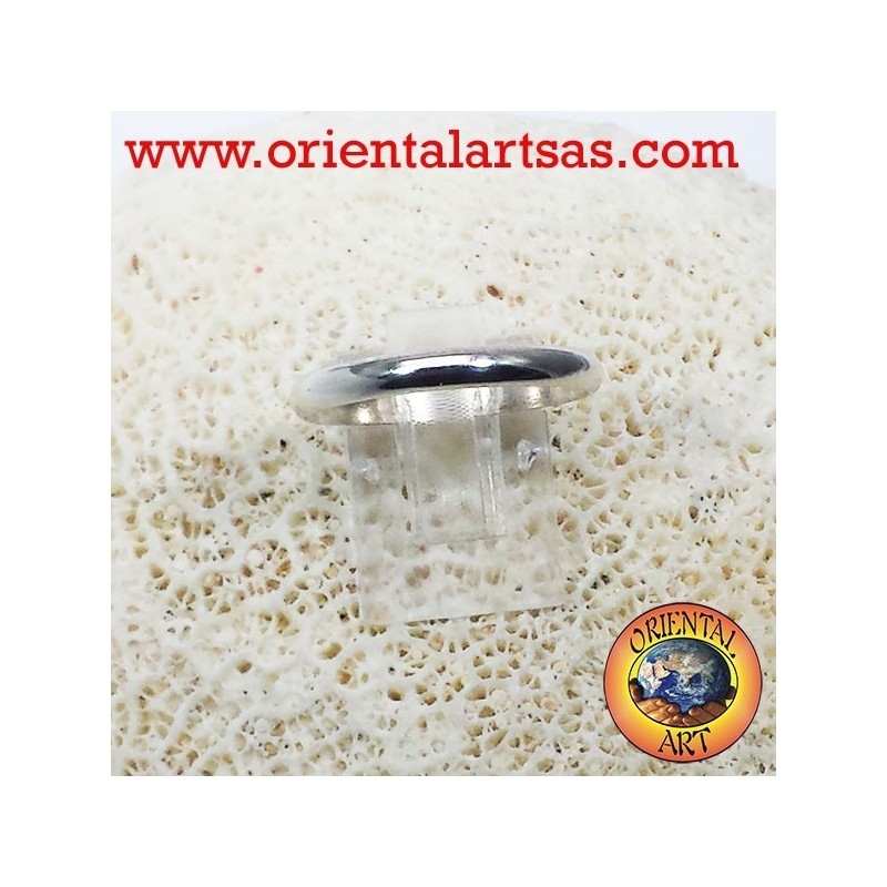 silver wedding ring 3 mm stop ring