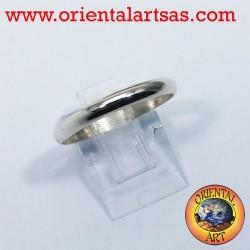 bague de mariage en argent bague d'arrêt de 3 mm