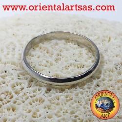 anillo de bodas de plata anillo de tope 3 mm