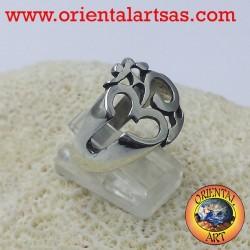 Om symbol silver ring