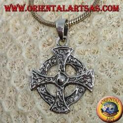925er Silberanhänger mit keltischem Kreuz
