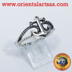 anchor ring with silver