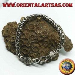 Silber Quadrat Knoten Armband