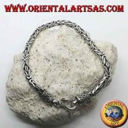 Bracciale in argento Borobudur, maglia bizantina da mm. 4*4 (sezione quadrata)