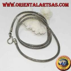 Collier en argent, lien serpent section ronde cm. 50 * mm. 2,5