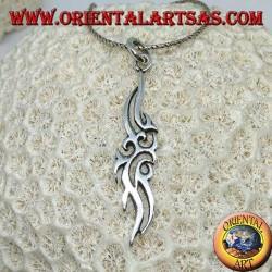 Ciondolo in argento simbolo Maori di amicizia