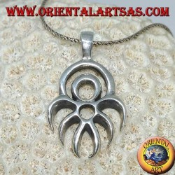 Silver pendant Maori symbol of defense protection