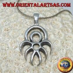 Silver pendant Maori symbol of defense protection