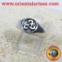 anello sigillo triskele in argento