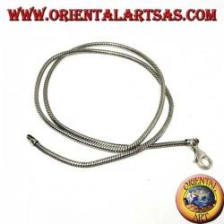 Collana in argento 925 ‰ , snake lunghezza cm.52  e  spessore  mm. 2,3