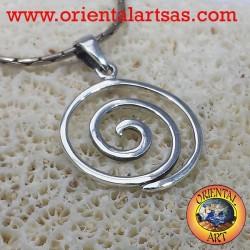 Ciondolo spirale in argento
