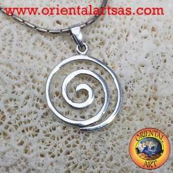 silver pendant, spiral