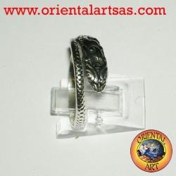 Anello pitone in argento
