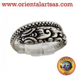 silver python ring