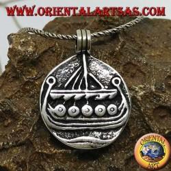 Pendentif en argent Drakkar Norse Viking ship Bijoux