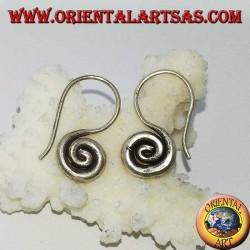 Orecchini in argento a spirale ad uncino fatto a mano Karen (piccolo)