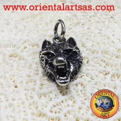 pendant wolf's head in silver