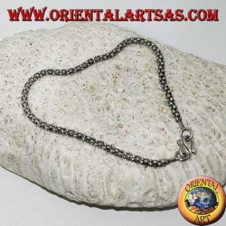 Bracciale in argento maglia veneziana tonda da mm. 27
