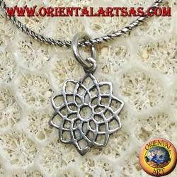 Silver pendant lotus flower soka gakkai Buddhism