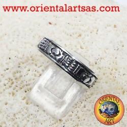 Claddagh anillo de bodas en plata