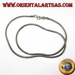 Collana in argento 925 ‰ , snake lunghezza cm.48 e spessore mm. 2,3