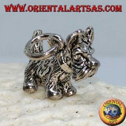 Silver pendant of the Yorkshire Terrier breed dog