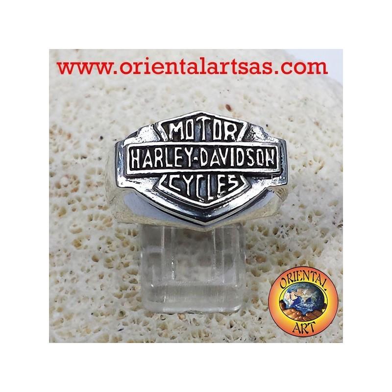 Anello Harley Davidson in argento 925 liscio