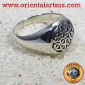 anello fiore della vita in argento p.