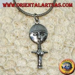 Silver pendant, poupee ashanti Ghana symbol Fertility