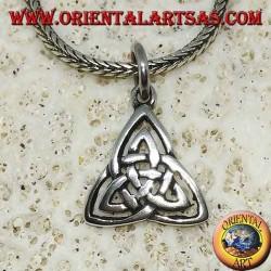 Pendentif en argent Noeud celtique de tyrone (symbole de la terre, de l'air et de l'eau)