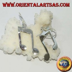 Silver pendent earrings, double chroma (music)