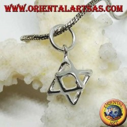 Silver pendant from Merkaba Mer-Ka-Ba, symbol of protection (small)
