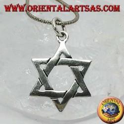 Colgante de plata, estrella de David o mejor el escudo de David, estrella judía