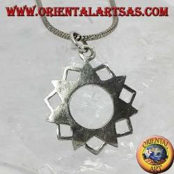 Pendentif en argent de l'étoile à sept branches Eptagramma