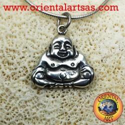 ciondolo buddha dell'abbondanza in argento
