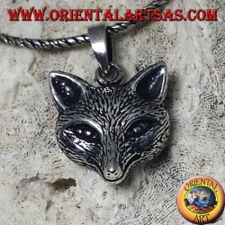 colgante de plata con cabeza de zorro