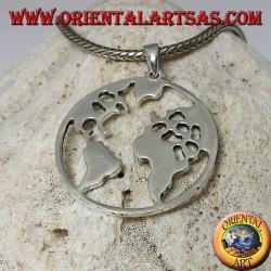 Ciondolo in argento 925 la terra il nostro pianeta Terra