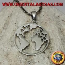 925er Silberanhänger die Erde unser Planet Erde (klein)