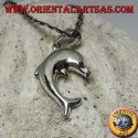 Silver pendant, the jumping dolphin