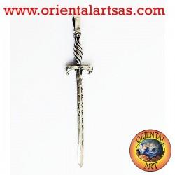 Colgante de Glastonbury Espada con runas de plata