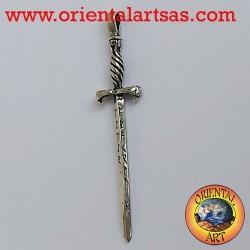 Anhänger Glastonbury Schwert mit silbernen Runen