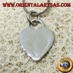 Colgante de corazón de plata modelo Tiffany (grande)