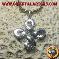 St. John's knot silver pendant (large)