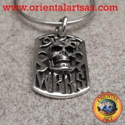 Ciondolo in argento, teschio WBRS