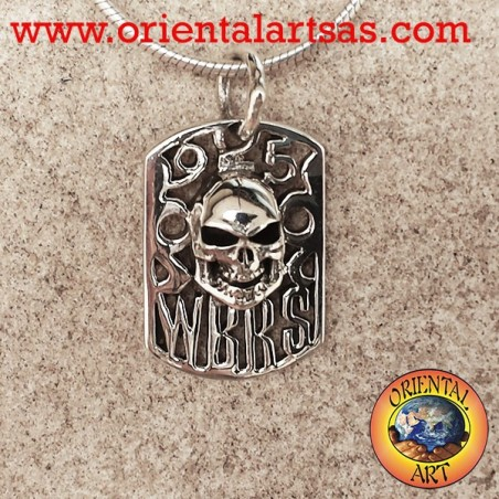 Silver pendant, WBRS skull