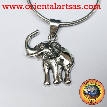 Pendentif argent Elephant