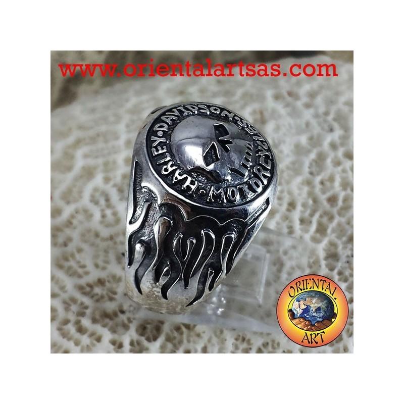 Ring Skull Biker Silber
