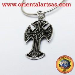 Ciondolo Croce celtica Irlandese in argento