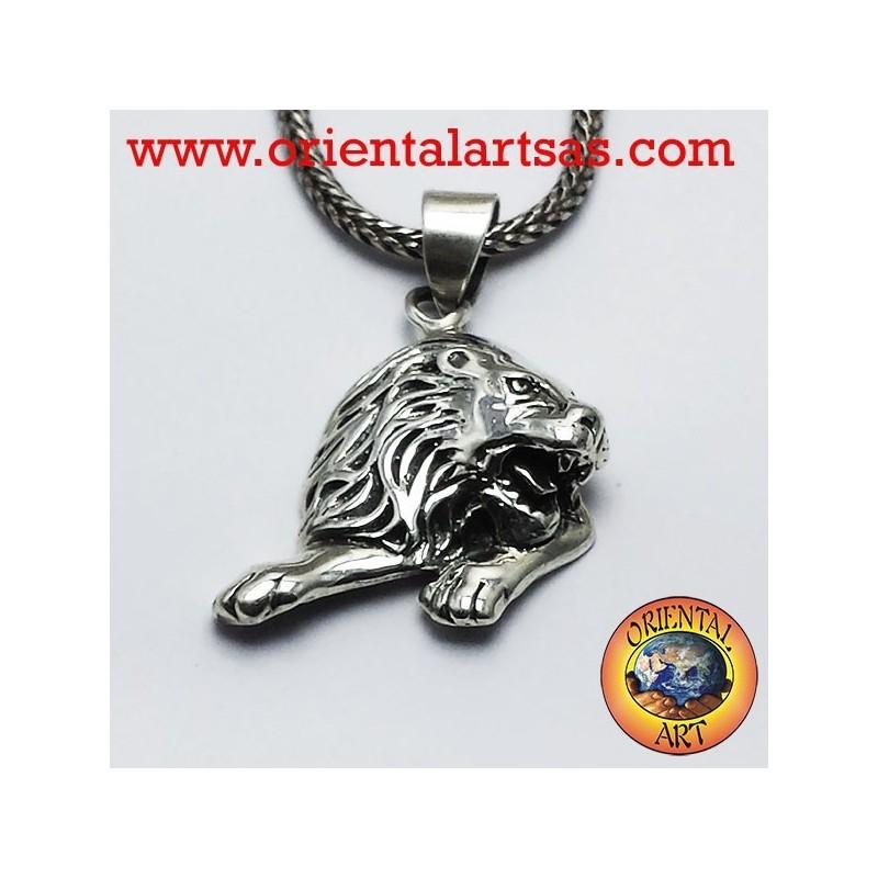 Ciondolo Leone in argento